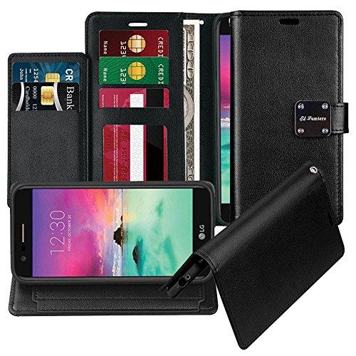 [ El Lumiere Prime Wallet Case for Samsung Galaxy J3 2018/Galaxy J3 V 3rd Gen/J3 Star/J3 Achieve/Amp Prime 3 ] Multi-Card Slot Wallet [Drop Protection] Premium Leather [Kickstand] (P-Black)