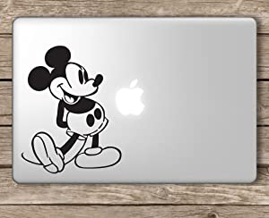 Mickey Mouse Disney - Apple Macbook Laptop Vinyl Sticker Decal, Die cut vinyl decal for windows, cars, trucks, tool boxes, laptops, MacBook - virtually any hard, smooth surface