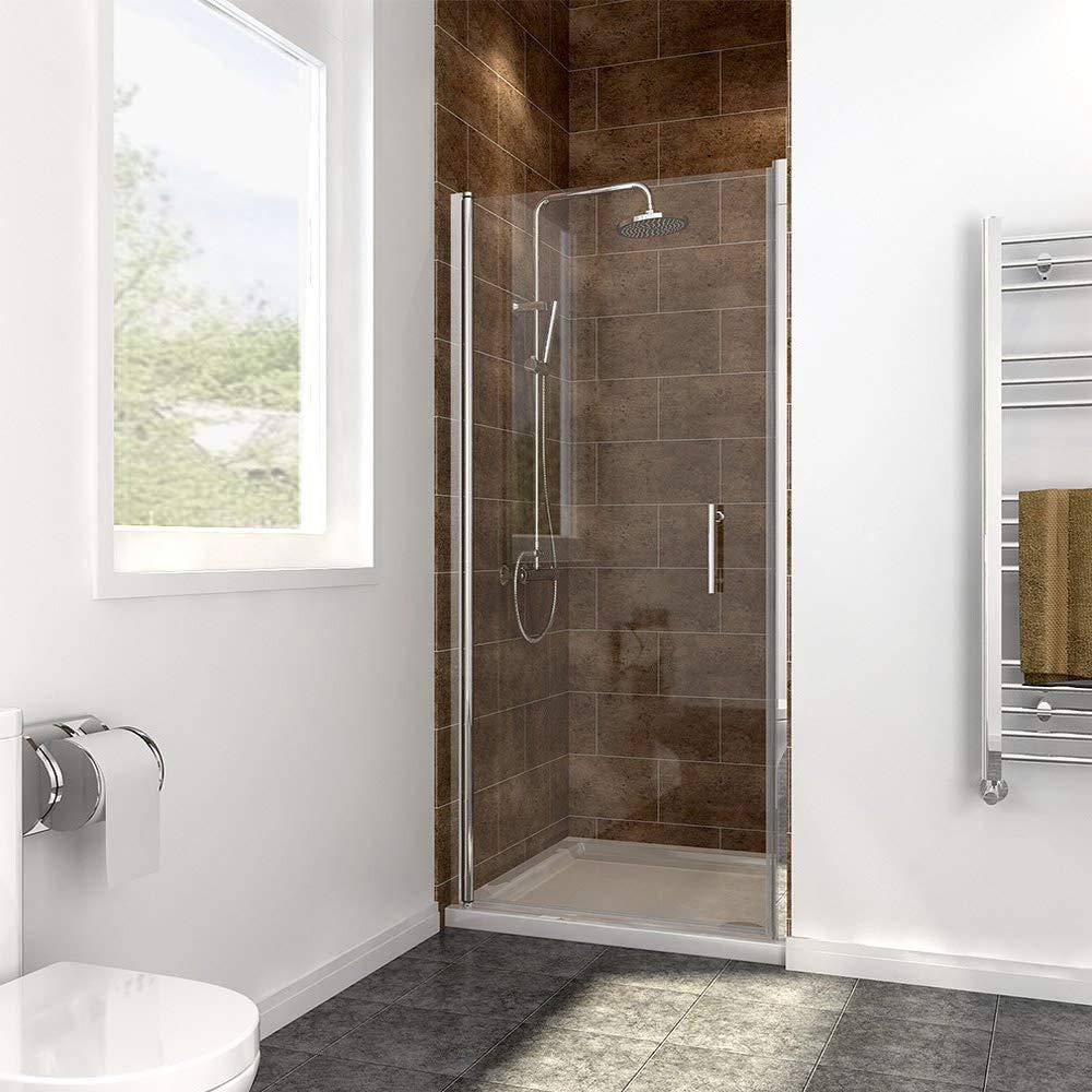 Side Panel 800 x 800mm Frameless Pivot Shower Door Enclosure 6mm Safety Glass Reversible Shower Cubicle Door