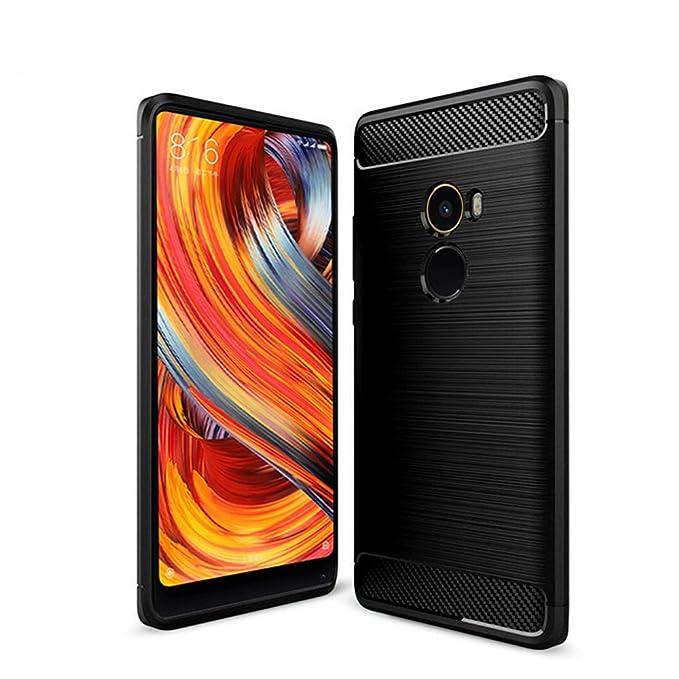 1 opinioni per Cover Xiaomi Mi Mix 2, Custodia resistente, GOGME [Serie fibra di carbonio]
