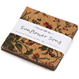"""Sunflower Song Charm Pack By Kansas Trouble Quilters; 42 - 5"""" Precut Fabric Quilt Squares"""