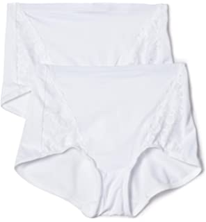 17dcea960233c Flexees by Maidenform Women s Everyday Control Lace Insert Brief 2-Pack