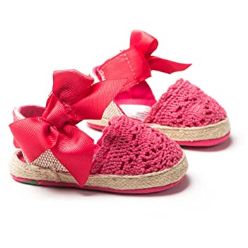 livebox bebé niñas Crochet Knit suave suela antideslizante ...