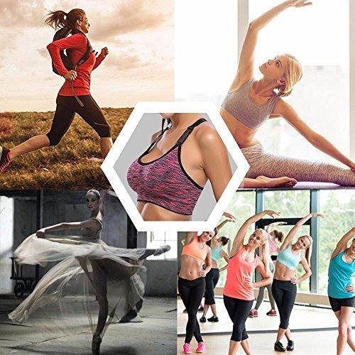 para Ejercicio Sujetador Acolchado Yoga o mujer Plus Aibrou Azul Correr A Tama Correr deportivo qfwx8ndE