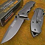 Tac-force Tactical Grey Titanium Folding Blade Pocket Knife