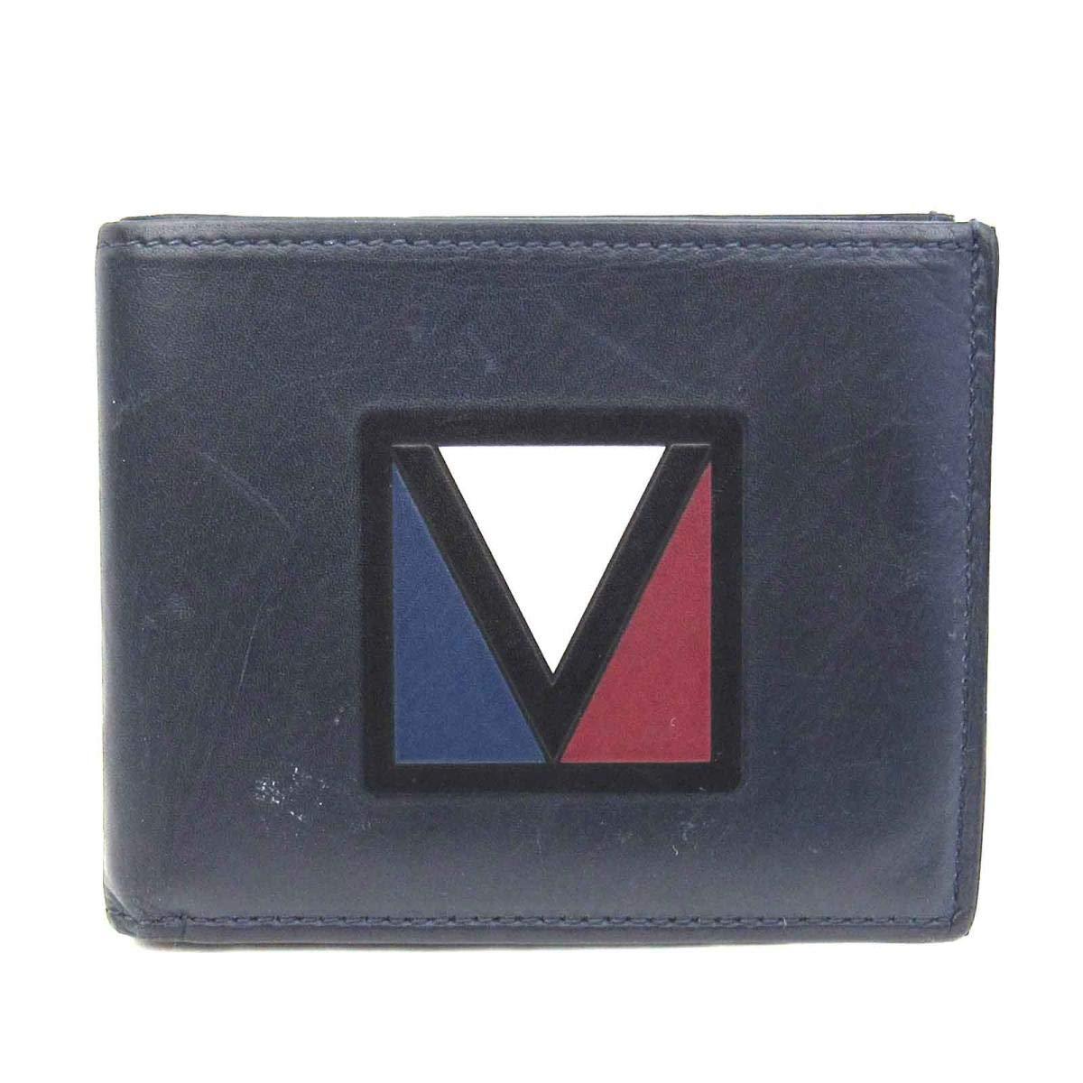 [ルイヴィトン] LOUIS VUITTON ポルトフォイユスレンダーXS 二つ折り札入れ 財布 ネイビー レザー M61320 [中古]   B07QW1Y7RK