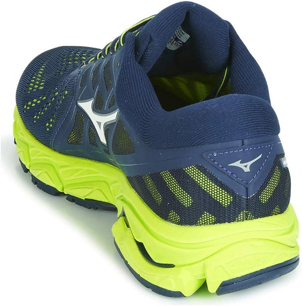 Mizuno Wave Ultima 11, Zapatillas de Running por Hombre, Azul (DressBlue/VaporBlue/BlazingYellow 53), 46 EU: Amazon.es: Zapatos y complementos