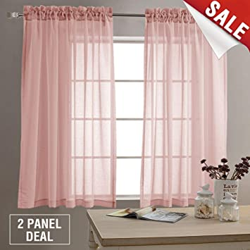 Amazoncom Girls Room Sheer Curtains 63 Inches Long Rod Pocket