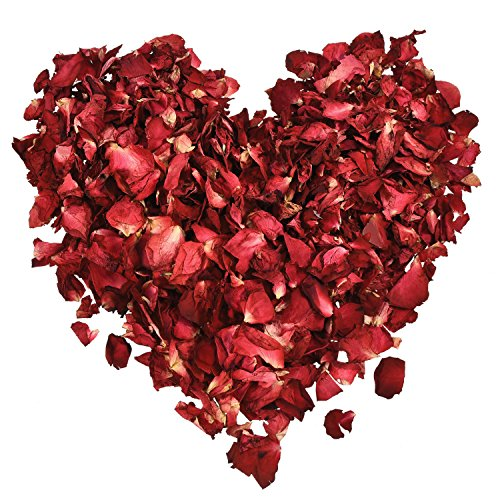 Hestya 100 Grams Dried Rose Petals Red Real Flower Rose Petal for Bath Foot Bath Wedding Confetti Crafts Accessories, 1 (Wedding Roast)
