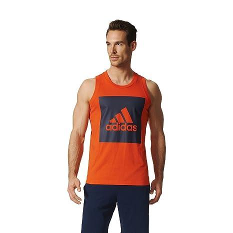 Camiseta de tirantes para hombre adidas Ess Tank, varios colores (Energi/Maruni)