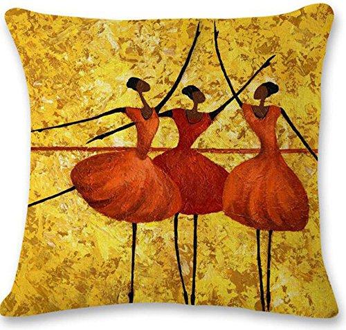 Painting Ballet Cotton Cushion Decorative