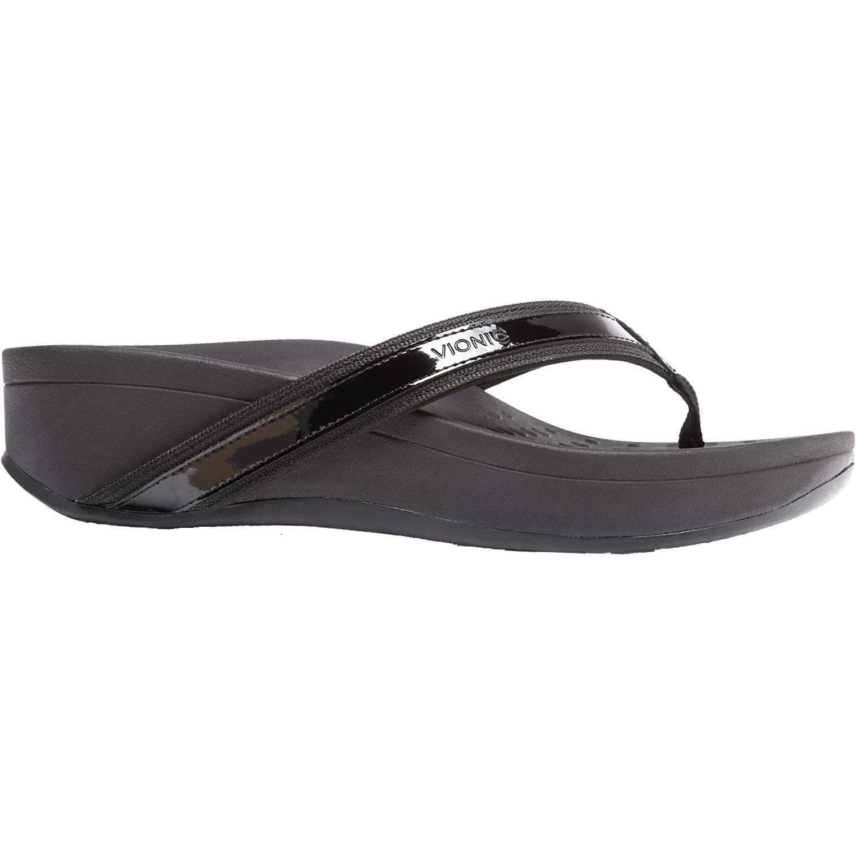 Vionic Women's High Tide Platform Sandal Black 7 M US