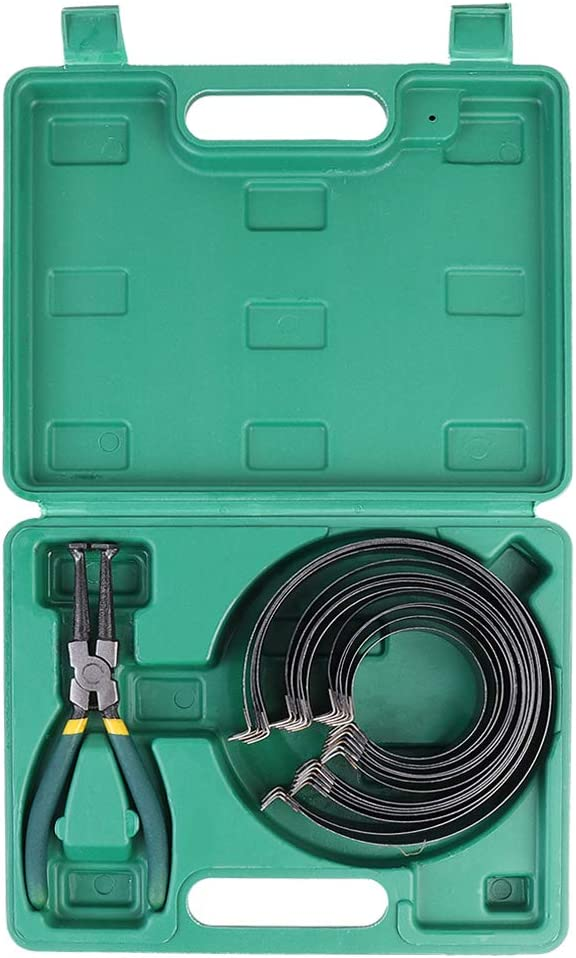 Amon Tech Piston Ring Compressor Cylinder Installer with Plier & 14 Bands Tool Set