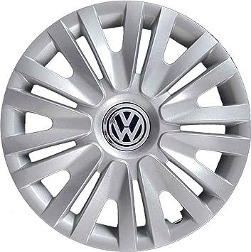 Juego de 4 tapacubos para llanta de 15 pulgadas (35,5 cm), para Volkswagen Polo a partir del 2009, no originales: Amazon.es: Coche y moto