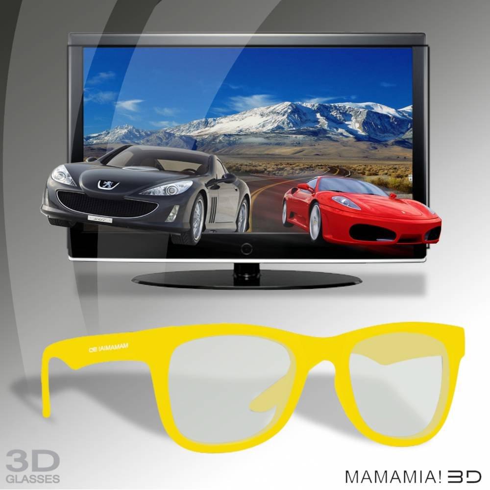 Thumbs Up 3D gafas polarizadas madre Mia - amarillo: Amazon.es: Electrónica