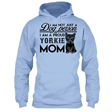698d662e Amazon.com: Yorkie Cool Tshirt - I'm A Proud Yorkie Mom T Shirt Design:  Clothing