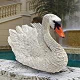 Design Toscano White Swan Statue, Multicolored For Sale