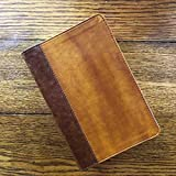 NIV, Giant Print Compact Bible, Leathersoft, Brown, Red Letter Edition, Comfort Print