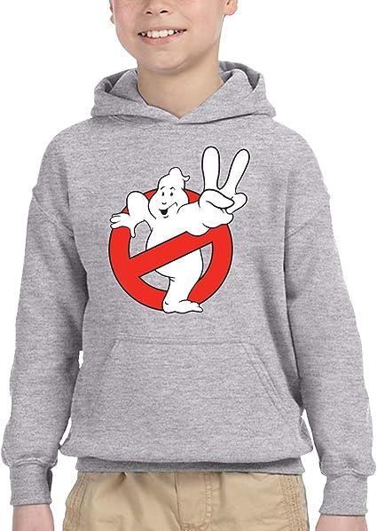 REYUTEEG Ghost-Busters Logo Youth Hooded Sweater Boys Girls Casual Hoodie Pullover Sweatshirt