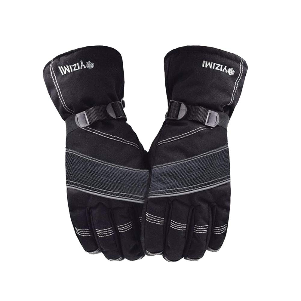 Dall Gloves Gloves Mittens Mens Ski Gloves Warm Winter Cold Proof Elastic Cuff (Color : Gray)