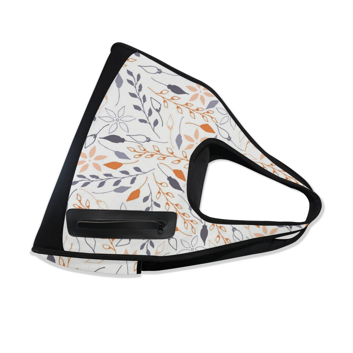 Sport Gym Bag Flower Leaf Tree Branches Pattern Canvas Travel Duffel Bag