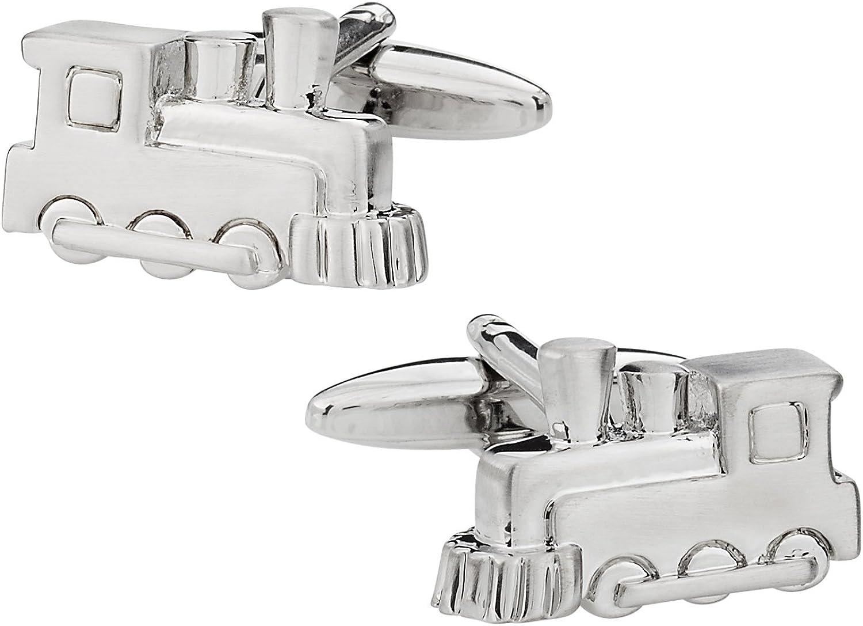 Unique Gemelos de tren de mercancías en cromo acabado en plata con ...