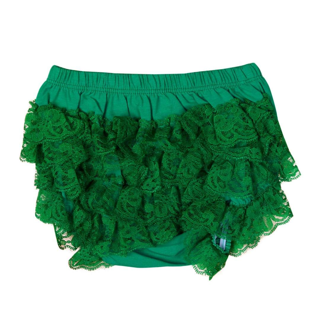 Napoo-Girls Dress Infant Girl Lace Ruffle Bloomer Underwear Panty Diaper Cover
