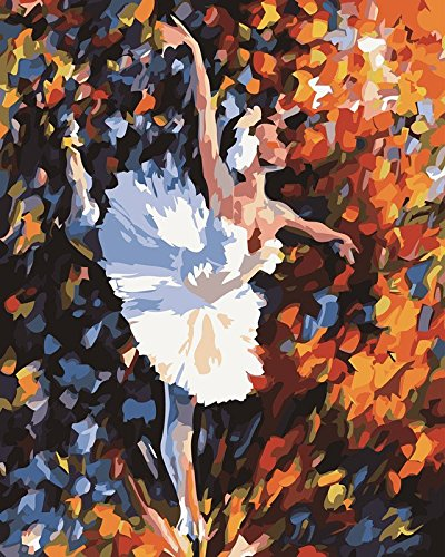 Ballet Dancer--New Paint By Number Kit 16 by 20 Inch
