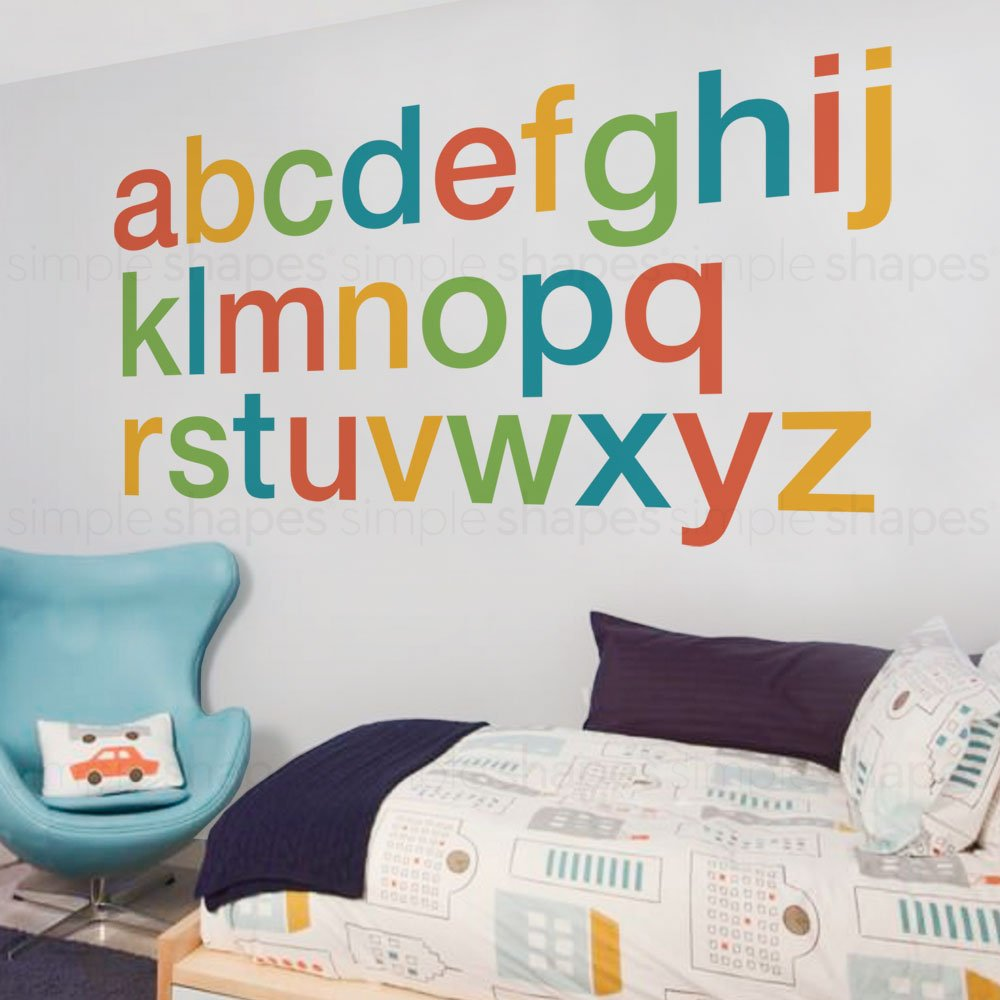 Alphabet Wall Decal - Scheme A - Large - by Simple Shapes