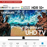 Samsung UN49NU8000 49 NU8000 Smart 4K UHD TV (2018 Model) - (Certified Refurbished) with 1 Year Extended Warranty