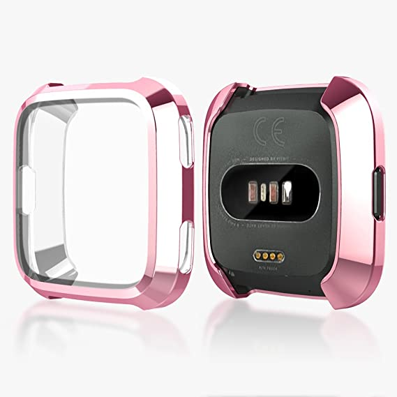 Case for Fitbit Versa, Haojavo Soft TPU Slim Fit Full Cover Screen  Protector for Fitbit Versa Smartwatch