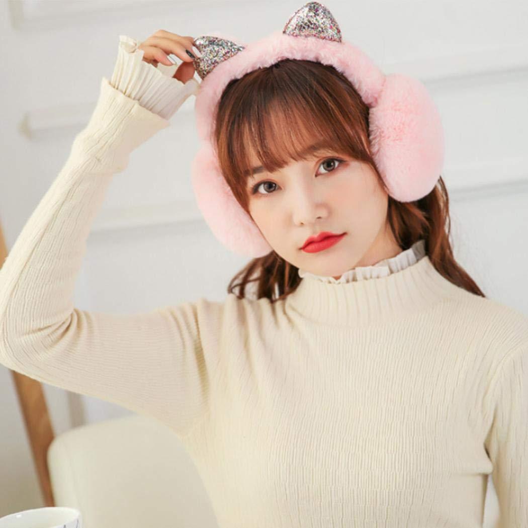 eubell Womens Winter Warm Cat Ear Earwarmer Adjustable Earmuffs