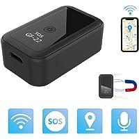 Mini Localizadores GPS, Rastreadores GPS Antirrobo con Imán y Seguimiento en Tiempo Real WiFi para Vehículos/Automóviles…