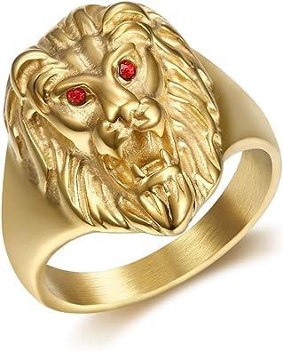 bague en or lion