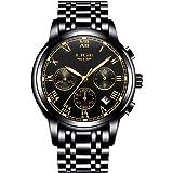 Watch Men Fashion Sport Quartz Clock Mens Full Steel Dress Watches Top Brand LIGE Luxury Business Waterproof Wristwatch Black