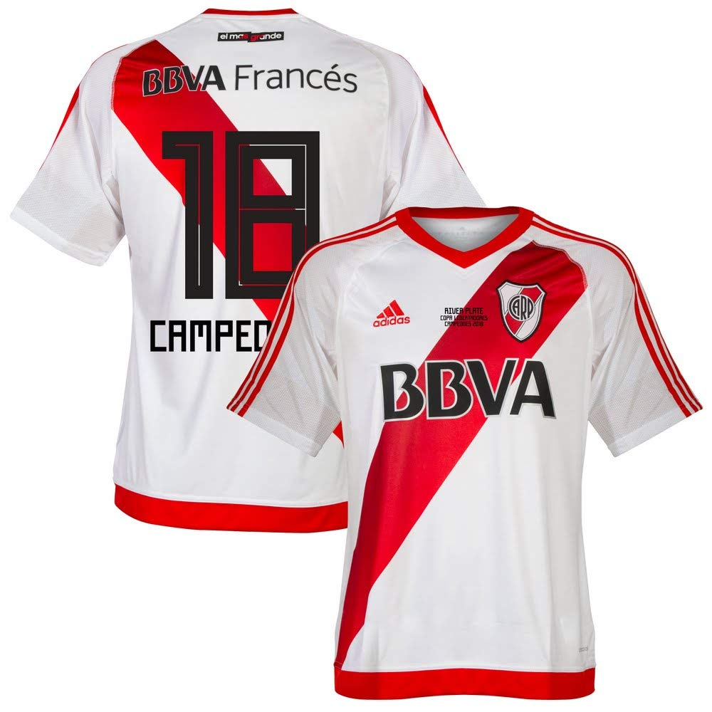 River Plate Home Campeones 18 Trikot 2016 2017 (Fan Style Beflockung)