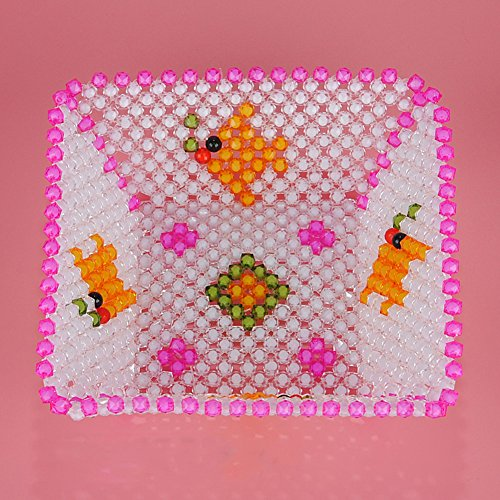 hand-beaded boxes Fairy fish bowls candy Storage Box square jewel-C - Beaded Pearl Fruit Bowl