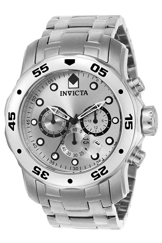 Invicta Men s 0071 Pro Diver Collection Chronograph Stainless Steel Watch