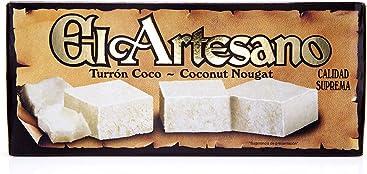 El Artesano Coconut Soft Nougat (Turron Coco) 7oz (200 G) (Pack