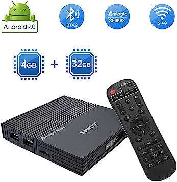 Sawpy Android TV Box F2 Android 9.0 TV Box CPU Amlogic S905X2 Quad Core Arm 4GB