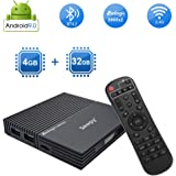 Android tv Box 9.0, Sawpy A95X F2 Android 9.0 tv Box 4GB RAM + 32GB ROM Quad-core Cortex-A53 64bit 4K 2.4GHz WiFi Bluetooth 4.2 USB 3.0 Smart TV Box with Remote Control via Smart Phone