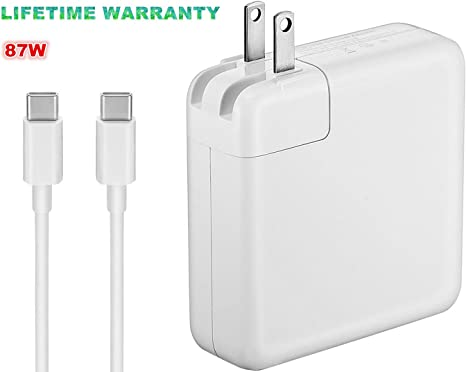 Runpower 61W USB-C Power Adapter Charger,with USB-C to USB-C Cable Power Supply Cord