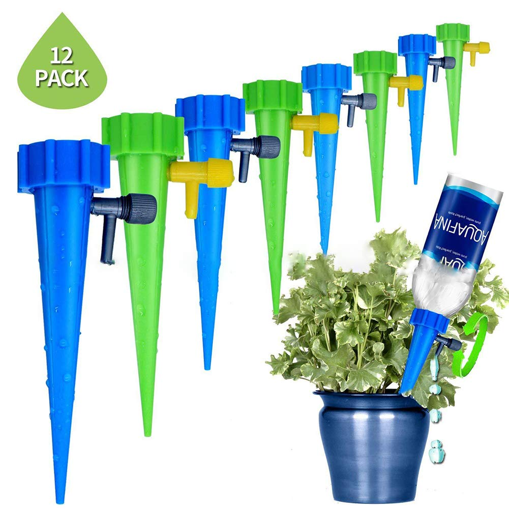 FABSELLER 6//12 PCS Automatic Watering Devices with Switch Control Valve Adjustable Water Flow Seepage Device Drip Device