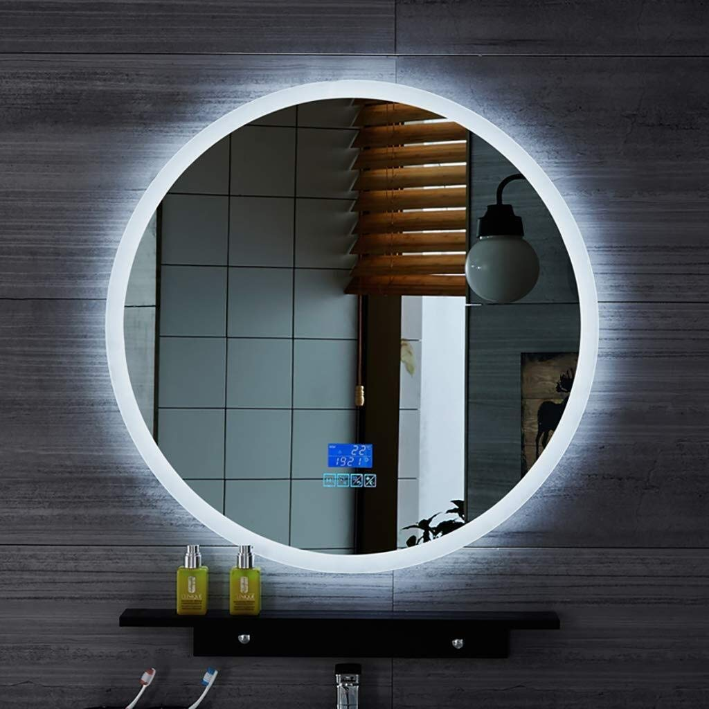 Beauty mirror LED Bathroom Mirror,Wall Anti Fogging And Bluetooth Call Illuminated Bathroom Mirror With Touch Switch, 5MM Explosion Proof Mirror White Light Round Makeup Mirror Dressing mirror by Makeup Mirrors