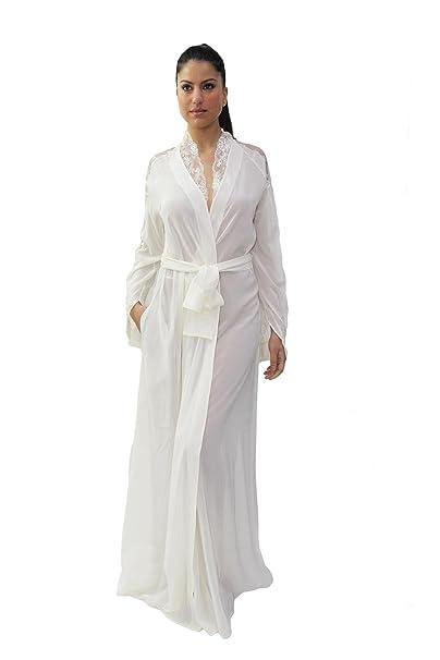 informazioni per 7d5df 2da81 La Perla Elegante Vestaglia Lunga in Pura Seta, da Sposa con ...