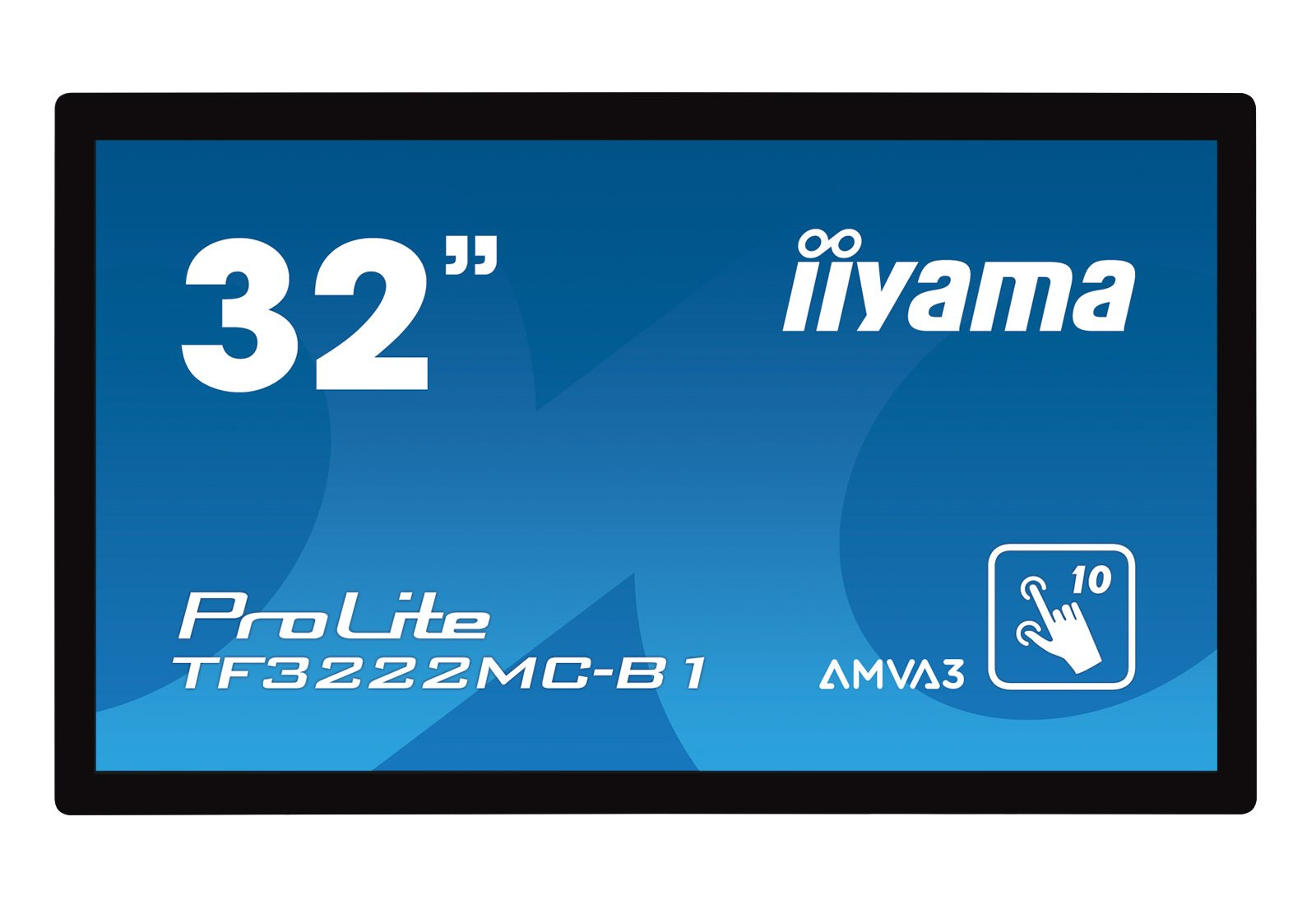 Iiyama 31,5 10 point Capactive Touch 1080p, 20/7, 425nits, TF3222MC-B1 (1080p, 20/7, 425nits AMVA3 panel 1920x1080, Scratch resistance, Open frame, Palm Rejection, IP54) by iiyama