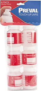 Preval Paint Sprayers Touch Up Jars (6-Pack) 0270
