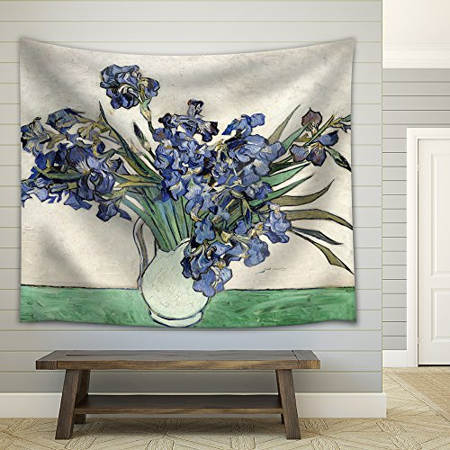 Vase of Irises by Vincent Van Gogh Fabric Tapestry