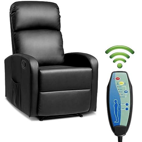 Amazon.com: Giantex - Silla reclinable de masaje con control ...