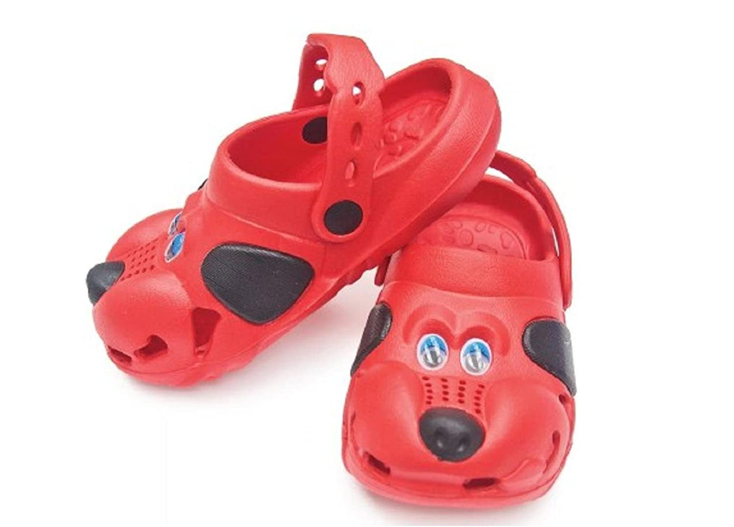 Children's All-Weather Novelty Animal Clogs Toddler Thru Little Kid Sizes (11, Red)